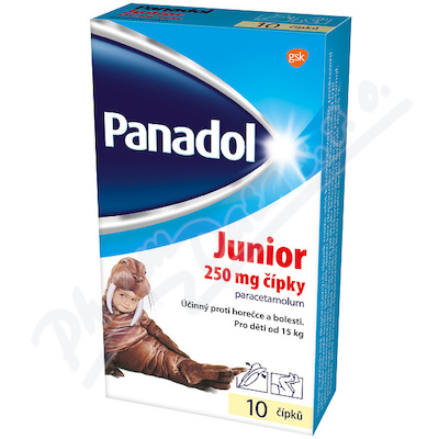 PANADOL JUNIOR 250mg sup 10