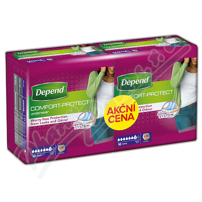 Depend Normal inkont.kalh.ženy Duopack S/M 2x10ks